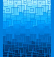 blue background of square lines vector image