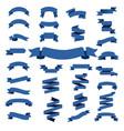 blue web ribbon big set vector image vector image