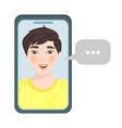 boy message internet talking business illus vector image