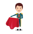 bullfighter character isolated icon design vector image vector image