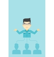 Businessman choosing employee vector image vector image