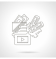 Buying cinema tickets detailed line icon vector image vector image