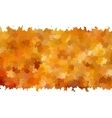 Card on autumn leaves texture EPS 10 vector image vector image