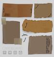 cardboard design elements vector image vector image