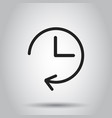clock timer icon on isolated background business vector image vector image