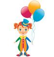 clown baby vector image