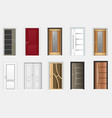 collection colorful room doors icons vector image vector image