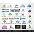 collection creative real estate logo design vector image