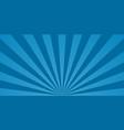 comic starburst blue background with sunburst vector image
