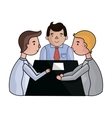 Conference icon in cartoon style isolated on white vector image vector image