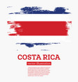 costa rica flag with brush strokes vector image