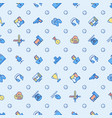 cybersport seamless pattern with thin line icons vector image vector image