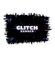 digital color distortion glitch noisy screen vector image