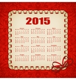 Elegant template of calendar vector image vector image