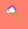 flat icon design collection stick horse toy vector image vector image
