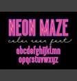 futuristic maze alphabet letters vector image vector image