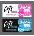 Gift Card Design with Gold Glitter Texture vector image vector image