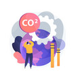 global co2 emissions abstract concept vector image vector image