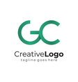 green circular initial letter g and c business vector image vector image