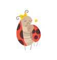 happy ladybug family mother ladybug embracing her vector image vector image