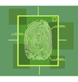 hi tech fingerprint composition vector image vector image