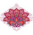 Indian ethnic ornament Hand drawn decorative vector image vector image