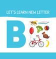 lets learn new letter a educational game for vector image