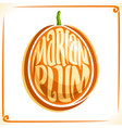 logo for marian plum vector image vector image