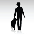 man walking dog vector image