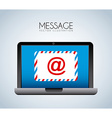 message vector image vector image