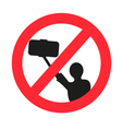 No selfie allowed sign vector image