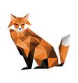 origami fox vector image vector image