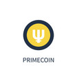 primecoin cryptocurrency icon vector image