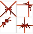 Red Gift Ribbon set backgrounds eps10 vector image vector image