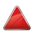 Red triangle icon Road sign design vector image vector image