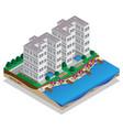resort on shore vector image vector image