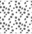 seamless background of animals tracks vector image