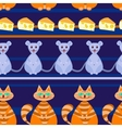 seamless pattern with Catmousecheese vector image vector image
