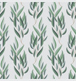 seamless pattern with eucalyptus branches vector image