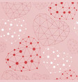 seamless pattern with heart made connected dots vector image
