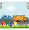 segregation of garbage in the city vector image vector image
