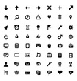 set 56 icons for software application vector image