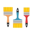 Set of paint brushes isolated on a white vector image