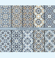 set seamless pattern vector image