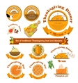 Set with a traditional food on vector image vector image