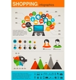 Shopping infographics set retro style design vector | Price: 1 Credit (USD $1)