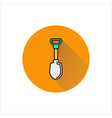 shovel icon on white background vector image vector image
