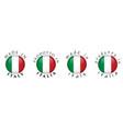 simple made in italy prodotto in italia italian vector image vector image