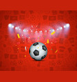 soccer game winner concept illuminated soccer vector image