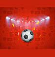 soccer game winner concept illuminated vector image